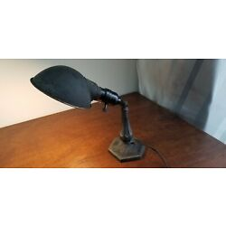 Kyпить Vintage Cast Iron Desk Table Lamp Art Deco - Working на еВаy.соm