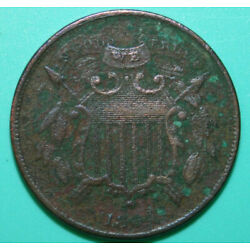 Kyпить 1864 Small Motto Two Cent Piece - Damaged Corroded - 2C на еВаy.соm