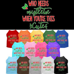 Who Needs Mistletoe When You're This Cute Dog Shirt  Pet Clothing Christmas
