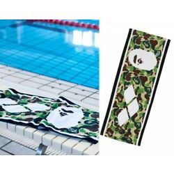 A BATHING APE BAPE x ARENA Collaboration Sports Towel Green Fast Shipping Japan