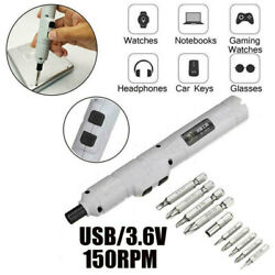 DC 3.6V Mini Lithium Rechargeable Cordless Electric Power Screwdriver Tool USB Z