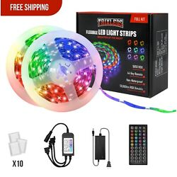 DAYBETTER Led Strip Lights 32.8ft 10m RGB with 44 Keys IR Remote and 12V Power