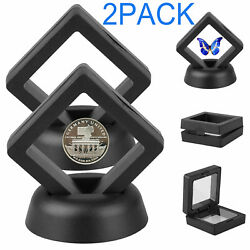Kyпить 2Pack Display Stand Floating Challenge Coin Medal ANY Coin Holder Display Case на еВаy.соm