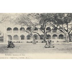 Kyпить Barbados: post card Residence with canons 1908 to Freiberg на еВаy.соm