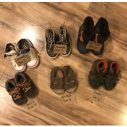 Kyпить Toddler Boys Lot of 6 Pairs of Shoes S 6&7 Converse Carter's Levi's Cat & Jack + на еВаy.соm