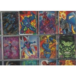 Kyпить 1995 MARVEL MASTERPIECES SERIES 4 COMPLETE 151 CARD SET RARE in 9 pocket sheets на еВаy.соm