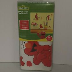 Sesame Street Peel & Stick Elmo Wall Decals 44 pieces Re-Usable New. Made in USA