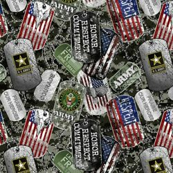 United States Army Cotton Fabric Fat Quarter-US Military Cotton Fabric-1254A