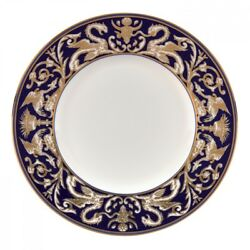 WEDGWOOD Renaissance Gold Scroll Accent Salad Plate 9'' Set of 4