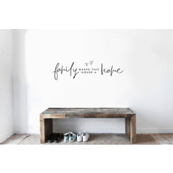 Family Makes This House A Home VINYL WALL DECAL WORDS STICKERS LETTERING