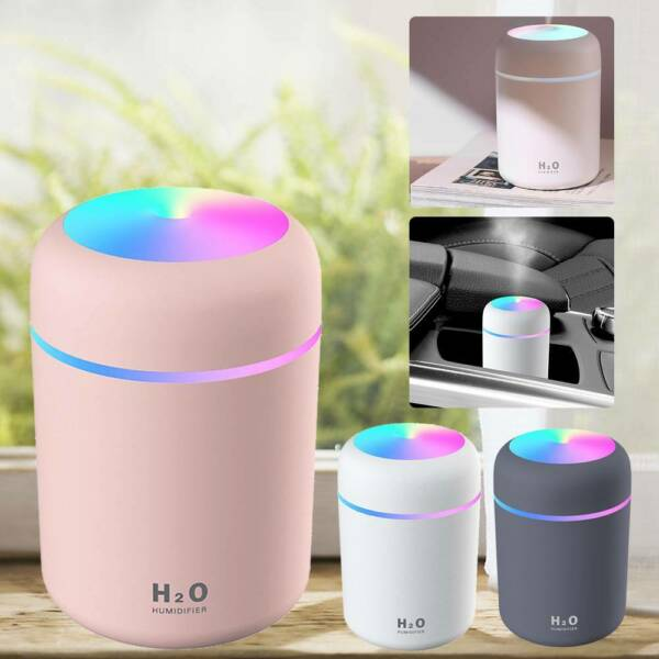 United KingdomMini Air Diffuser Aroma Oil Humidifier LED Night Light Up Home Relax Defuser ZT