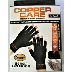 Copper Care -  Copper infused compression gloves Adult, 1 Size Fits Most