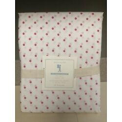 Kyпить Pottery Barn Kids Organic Pin Dot Sheet Set - Bright Pink - Full - NWT на еВаy.соm