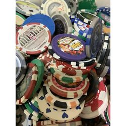 100 piece poker chip - Random Chips Of 100, Great For Collectors