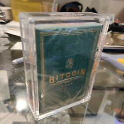 Kyпить Bitcoin Playing Cards Green Cash + Gold - IPO52 Comes In Acrylic IPO52 Case!  на еВаy.соm