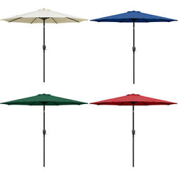 Kyпить 9ft Outdoor Market Table Patio Umbrella with Button Tilt and 8 Sturdy Ribs на еВаy.соm