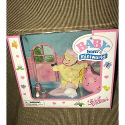 New  Zapf Creation Baby Born Mini World Pink Yellow Baby Doll Clothes + Acc
