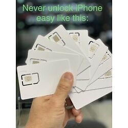 Kyпить US &International 2021 Sim Card unlock Iphone 12 Pro Max 11 XR XS X 8 7 REUSABLE на еВаy.соm