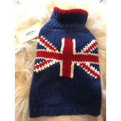 UK Flag Dog Sweater  - XS - New with Tags!