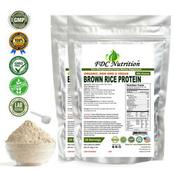 FDC NUTRITION Organic Rice Protein Powder 2.2 LBS (Unflavored)
