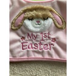 Kyпить NWT My First Easter Baby Bib 0-12 Mos Pink Embroidered на еВаy.соm