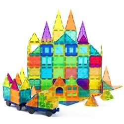 Kyпить Cossy Educational 120 PCs Magnet Building Toys Tiles with 2 Car Sets for Kids на еВаy.соm
