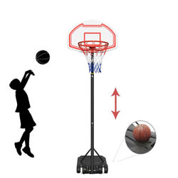 Kyпить Adjustable Portable Basketball Hoop System Stand Kids Outdoor Net Goal w/ Wheels на еВаy.соm