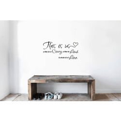 THIS IS US CRAZY LOUD LOVE VINYL WALL DECAL LETTERING SAYING QUOTE WORDS DECOR