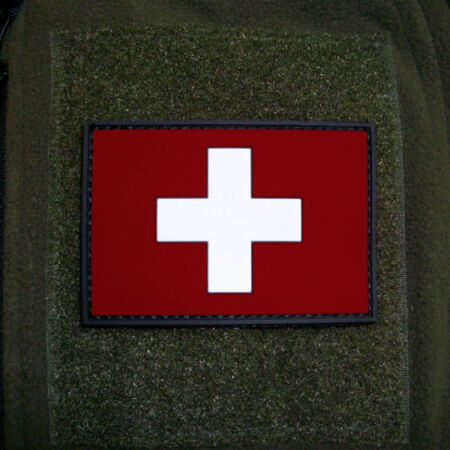 img-3D Rubber Patch Switzerland Swiss Armed Forces Army Flag 8x5cm #16257