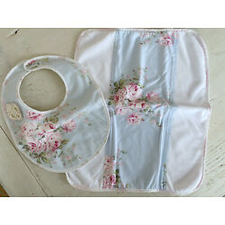Kyпить Rachel Ashwell Shabby Chic Couture Baby Bib & Burp Cloth Set NWT Bella Rose на еВаy.соm