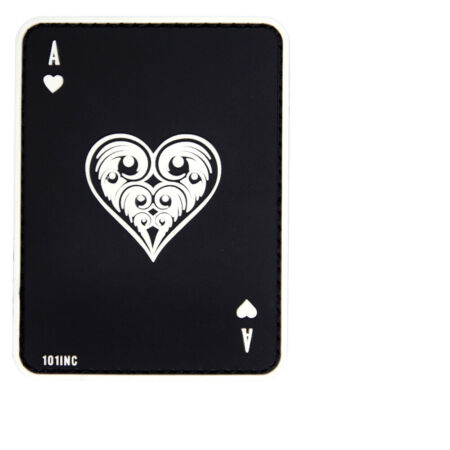 img-Heart Ass Card Game Airsoft 3D Rubber Patch Big Game 8x5cm #31324