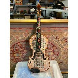 Kyпить Vintage Hand Painted and Decorated Violin Instrument This is Awesome! на еВаy.соm