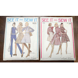 Kyпить Vintage Sewing Patterns SEE IT AND SEW IT Women's Lot of 2 1960's-70's UNCUT  на еВаy.соm