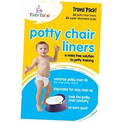 Kyпить TidyTots Disposable Potty Chair Liners | XL Travel Pack of 32 Liners + 1 pack на еВаy.соm