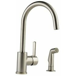 Kyпить  Precept Single-Handle Kitchen Sink Faucet with Side Sprayer Stainless на еВаy.соm