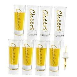 Kyпить  shot Glasses Set of 8 with Heavy Base, Clear Shot Glass - 2-Ounces. () Cheers на еВаy.соm