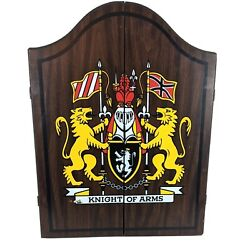 Kyпить Knight Of Arms Dart Board Cabinet Only Rare Made USA Wood King Cricket Dartboard на еВаy.соm