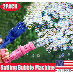 Kyпить 2x Gatling Bubble Machine Bubbler Maker Automatic Bubble Toy Gun For Kid Outdoor на еВаy.соm