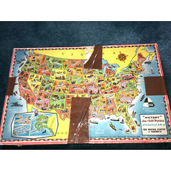 Kyпить Victory Jig Saw Puzzle Industrial Life United States Map Plywood Made in England на еВаy.соm