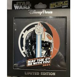 Kyпить NEW Disney Star Wars Day 2021 May The 4th Be With You Jumbo Pin LE 1000 In Hand на еВаy.соm
