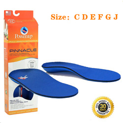 Kyпить Powerstep Pinnacle Orthotic Insoles Inserts Orthotics Sizes:C D E F G J на еВаy.соm