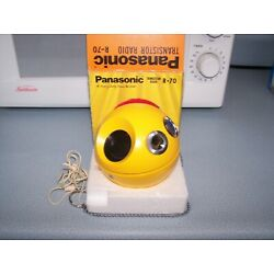 Kyпить Vintage Panasonic R-70 Panapet AM Transistor Radio Ball Yellow In Box на еВаy.соm