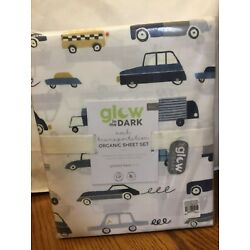 Kyпить POTTERY BARN KIDS FULL Glow in Dark Noah Transportation Sheets-NIP на еВаy.соm