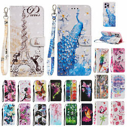 For iPhone 13 Pro Max 11 XS XR 8 Plus 7 PU Leather Wallet Card Phone Case Cover