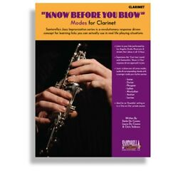 Kyпить SANTORELLA KNOW BEFORE YOU BLOW MODES  FOR CLARINET BOOK & CD на еВаy.соm