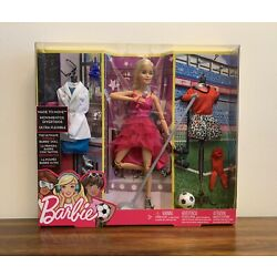 Kyпить Barbie Made to Move Ultra Flexible Doll-Pop Star, Scientist and Soccer Outfits на еВаy.соm