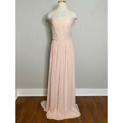 Ceremony by Joanna August NWT Strapless Flowy Pink Bridesmaid Dress Gown 12