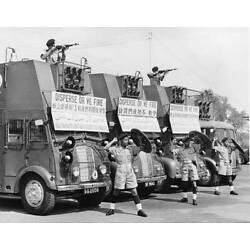 Police Riot Squad In Singapore 1950 OLD PHOTO