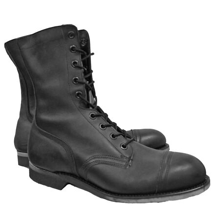 img-Army Boot Original US Safety Non Sparking Military Combat Biker Leather UK 10.5