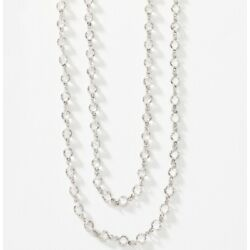 """touchstone crystal swarovski mini chanelle necklace extra long crystal 56"""""""